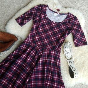 LuLaRoe Plaid Nicole Dress